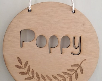 Personalised Timber Name Plaque