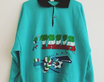 Vintage 1990 Soccer World Cup Sweater