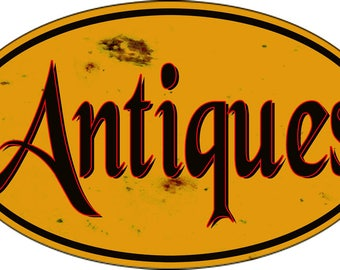 Antique Vintage Reproduction Nostalgic Sign 9x14 Oval