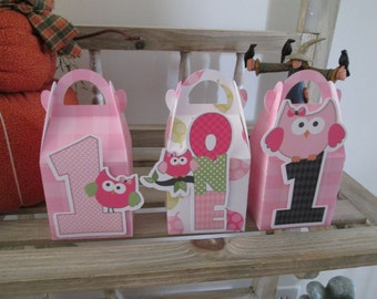 One Year Old Girl Gable Boxes Set of 12 with Free Shipping
