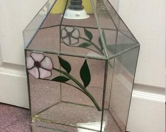 Vintage Stained Glass Terrarium Plant Holder