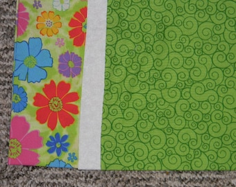 Green Flowered Standard Pillowcase