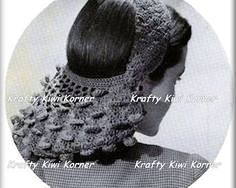 Crochet Vintage Snoods and Head Wear Patterns - 5 Patterns for 3 Dollars