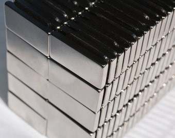 "1"" x 1/2"" x 1/8"" (24mm X 12mm x 3mm) rectangles / squares - 25  /  50 / 100 / 250 pcs SUPER STRONG MAGNETS - N45 Neodymium - rare Earth (83)"