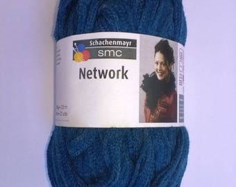 WOOL SMC NETWORK 100GR NEW TEAL RUFFLES