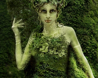 HedgeCreek Dryad Mythic Fantasy art print by Susan Schroder