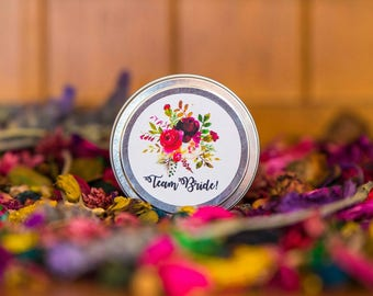 Team Bride 4oz Soy Wax Candle Tin | Travel Tin Candle | Bridal Gift | Bridesmaid Gift | Party Favour | Hens Party Gift | Bridal Shower
