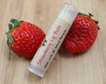 Strawberry Beeswax Lip Balm Tube