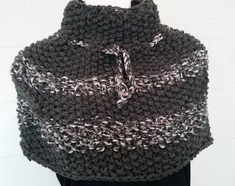 Dark gray neck warmer