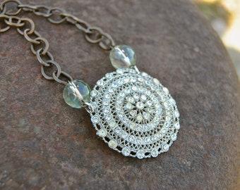 Reclaimed Rhinestone Necklace