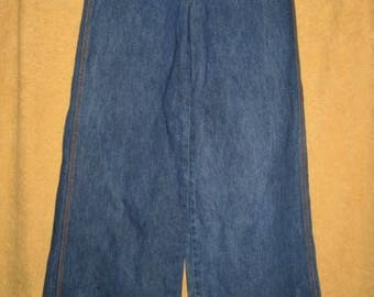"70s Brittania Bell Bottom High Rise Jeans 29"" Vintage"
