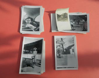 Lot Of 50 Vintage Black White Snapshots Photographs: Portraits People Land City 1930s - 1950s - #26