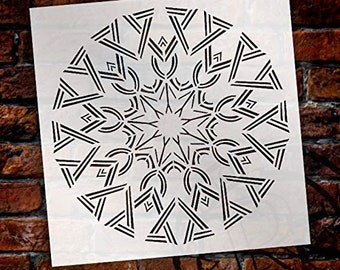 Mandala - Deco - Complete Stencil by StudioR12   Reusable Mylar Template   Use to Paint Wood Signs - Pallets - Pillows - Wall Art - Floor...