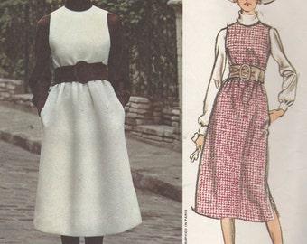 Bust 31 1/2-1960's Misses' Jumper and Blouse Vogue Paris Original Jean Patou 2513 Size 8