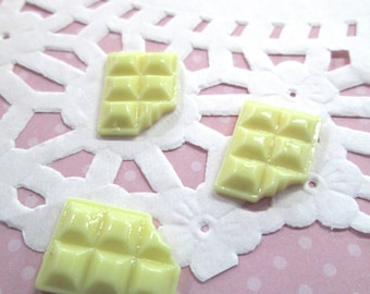 Candy bar decoden cabochons,  White, pick your amount #01b