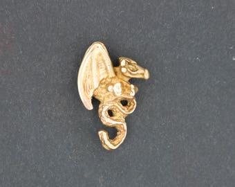 3D Dragon Pendant in Antique Bronze