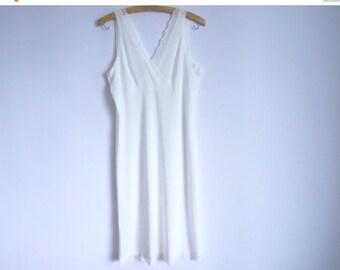 ON SALE Soviet Vintage 1970s Women's Lingerie/ White Lingerie Underwear With Lace Trim/Size Medium