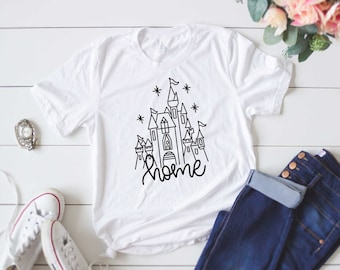 Walt Disney World Castle HOME LIGHT T-shirt/ Cinderella Castle/ Disney Shirt/ Home/ Disney World Shirt/ WDW