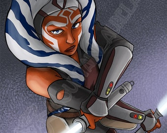 Star Wars Ahsoka Tano Artist Trading Card - Star Wars Rebels Fan Art ACEO - ATC - Mini Print