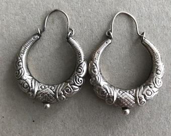 India earrings Sterling silver