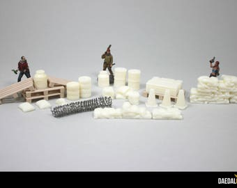 Zombicide, The Walking Dead, Bolt Action: Accessories kit for games urban universe 28 / 32mm