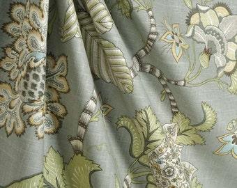 Ready to Ship Zipper Closure P Kaufmann Clarice Dove blue grey green Linen ONE pillow cover Throw Decorative pillow 14 x14