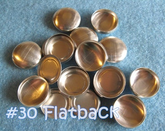 25 Covered Buttons FLAT BACKS - 3/4 inch - Size 30  flat backs no loops covered buttons notion supplies diy refill