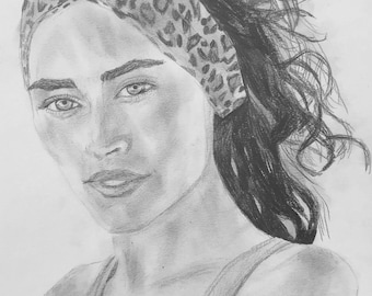 "Original Artwork, Pencil on Paper, 12""x9"", ""Kayleigh"""