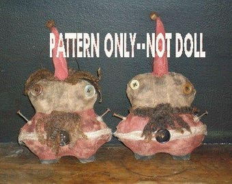Christmas epattern-NOT DoLL, Santa Claus Jolly Fat Boy Ornament 235e Crows Roost Prims epattern SALE immediate download