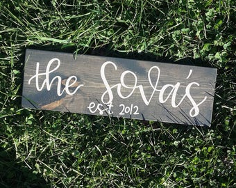 PERSONALIZED Established Family Name Sign, wedding gift, anniversary gift, custom gift, personal gift, gift for couples, gift for valentine