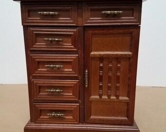Vintage Jewelry Box/Cabinet