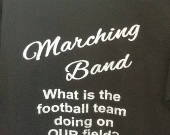 Custom Marching band glitter fitted t-shirt
