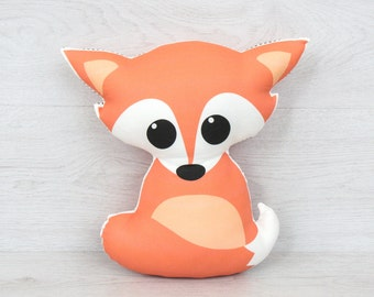 FREE SHIPPING Red fox, Stuffed fox, Pillow, Nursery Decor, Soft Toy, Plush Toy, Kids Room Decor, fox Cushion, Decorative Pillow