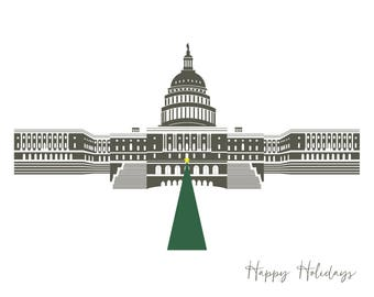Washington DC Boxed Card Holiday Stationery A2