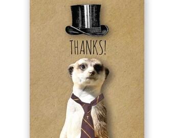 Thank You Meerkat Card Set of 12