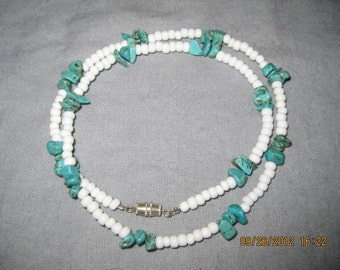 White and Turquoise Rock Beads
