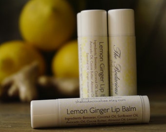 All Natural Lip Balm | Lemon Lip Balm, Essential Oil Lip Balm, Lip Gloss, Beeswax Lip Balm, Handmade Chapstick, Lipbalm