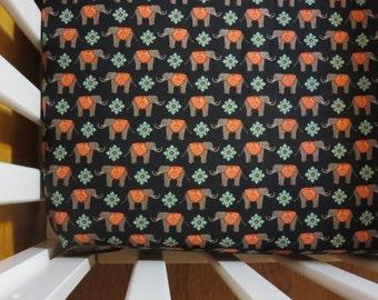 Elephant Caravan -Baby/ Toddler Crib Sheet-Fitted Crib Sheet-Sheets- Bedding-Nursery-