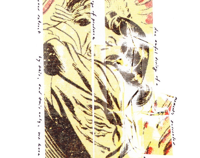 the awful daring / original wax monoprint / print on photo paper / original art / art lover / art gift / home decor / wall art