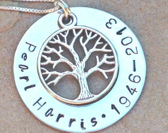 memorial necklace, rememberance necklace, tree of life necklace, loved one, natashaaloha