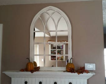 """37"""" Tall Canterbury Cathedral Window Mirror"""