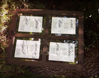 """Printable Seating Chart Signs \\ DIY Template \\ 8x10"""" and 5x7"""" Included"""