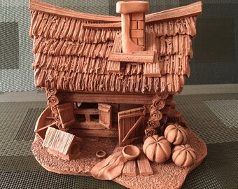 Ceramic Handmade Art Decor/ Candle holder - House