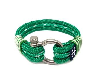 Bran Marion Green Atlantic Nautical Bracelet, Handmade Rope Bracelet, Unisex Bracelet