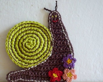 Snail Coasters - Woodland Rustic Decor - Home Decor - Crochet Coasters - Animal Coasters - Crochet Snail - Set of 2 - Mothers Day Gift