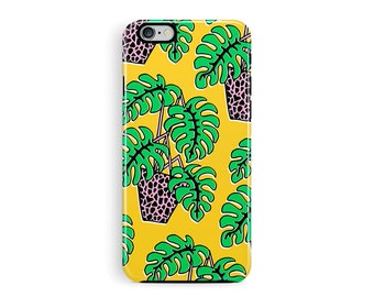 Palm iPhone 6s Case, iPhone 6 Case, iPhone 6 tough Case, Plant Pot iPhone Case, iPhone 6S Case, 80s Pattern case, cheese plant Phone Case