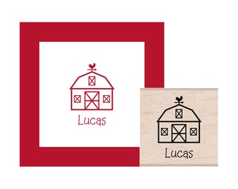 Barn Personalized Rubber Stamp