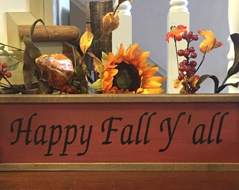 Fall Sign. Happy Fall Y'all. Fall decor. Country Fall Decor, Wreath Sign. Fall Home Decor. Fall Wreath Sign. Solid Wood Sign.