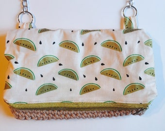 Watermelon pattern clutch bag