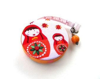Tape Measure with Babushka Nesting Dolls Retractable Measuring Tape